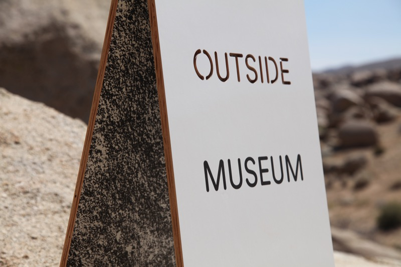 OUTSIDE MUSEUM, A Temporary Museum in the Desert, group show
